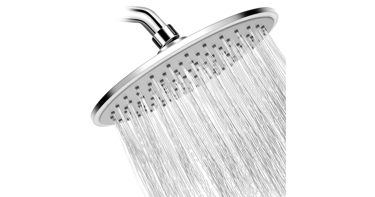 WarmSpray D10801 Rain High Pressure Shower Head image