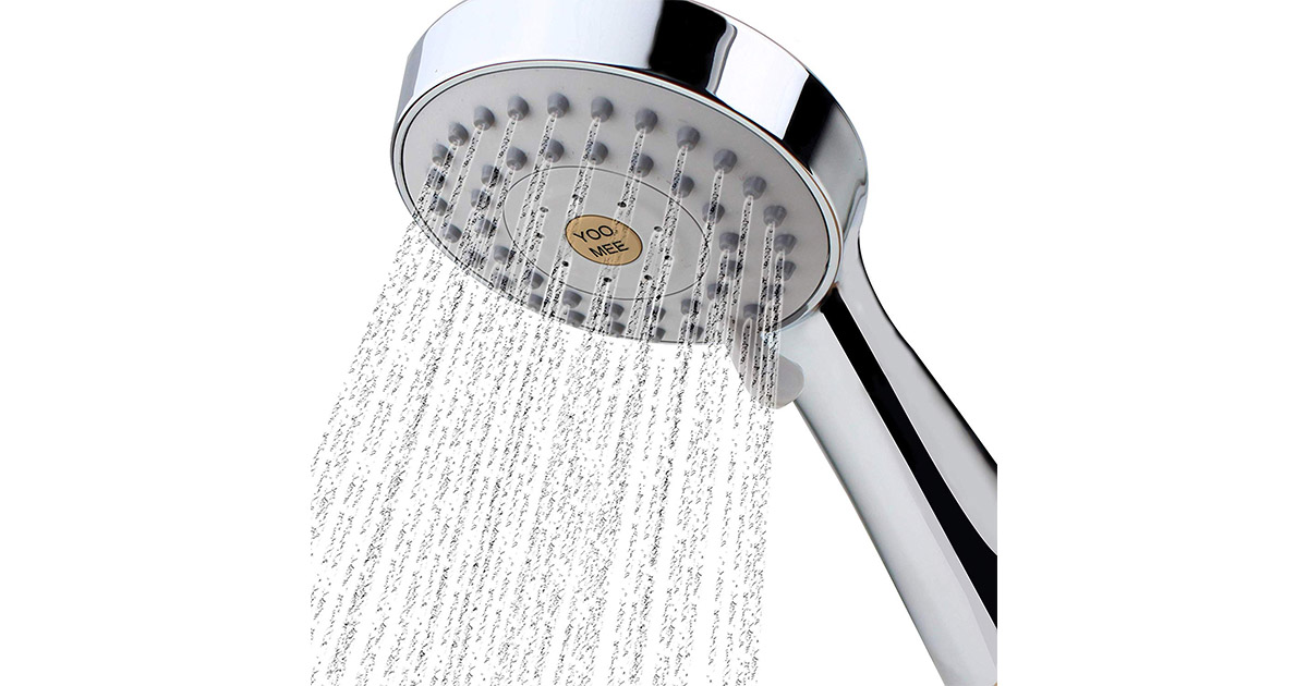 YOO.MEE 8541794531 High Pressure Handheld Chrome Shower Head image