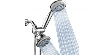 AquaStorm by HotelSpa 1440 30-Setting SpiralFlo 3-Way HIGH PRESSURE Luxury Chrome Shower Head image