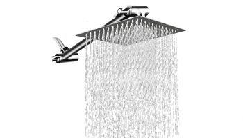 Mesun 12 Inches Square Rain Showerhead – Convenient for low to high water pressure!